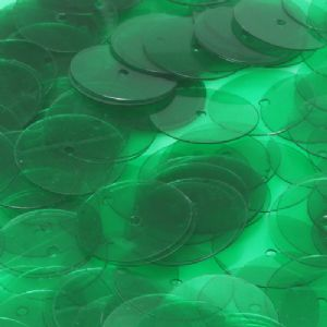 Sequins, Dark green, Diameter 15mm, 150 pieces, 10g, Disc shape, Sequins are NOT shiny, [CZP380]